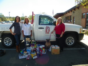 Donations delivered to LAPCHS collected from the SALSA Party