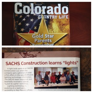 Featured in the Colorado Country Life Magazine - Sept. 2014 Issue
